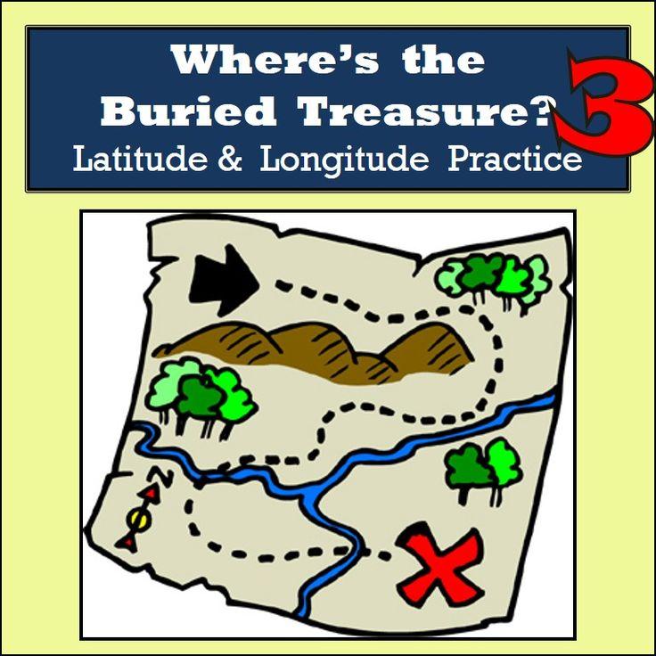 Latitude Longitude Practice 10 Treasure Hunts Part 3