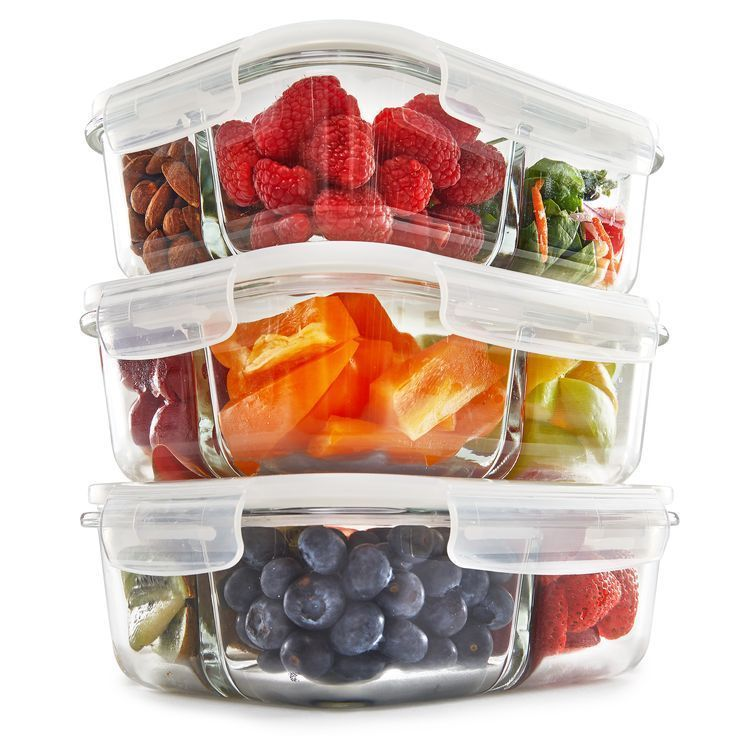 ONLY $20.99 - LIMITED TIME OFFER! 3 COMPARTMENT MEAL PREP CONTAINERS #MealPrep #bento #love #fitness #healthy #Wellness