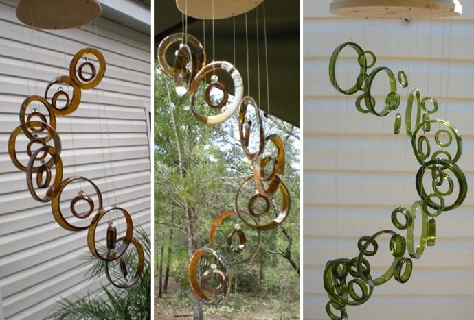 20 Ideas of How to Recycle Wine Bottles Wisely (rings for wind chimes or maybe something else creative)