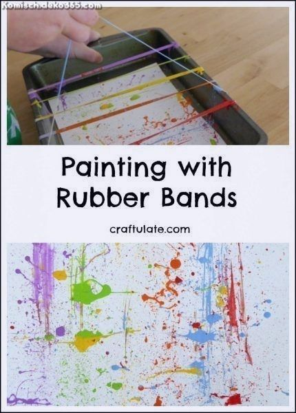 Spectacular painting with rubber bands – funny art for every kid! – # for every # rubber band …