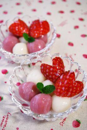 「とっても簡単!いちごみるく白玉」ayaka | お菓子・パンのレシピや作り方【corecle*コレクル】