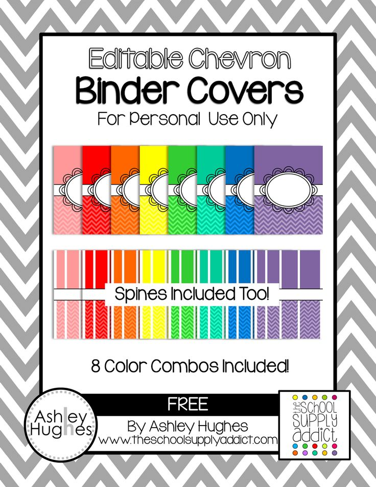 Free Binder Covers for Color Coding... or Whatever.