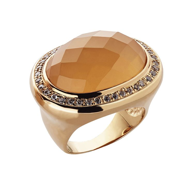 Oxette Nude Ring - Couture Collection - Available here http://www.oxette.gr/kosmimata/daktulidia/silver-rose-gold-plated-ring-orange-moonstone-598l-1/     #oxette #OXETTEring #jewellery