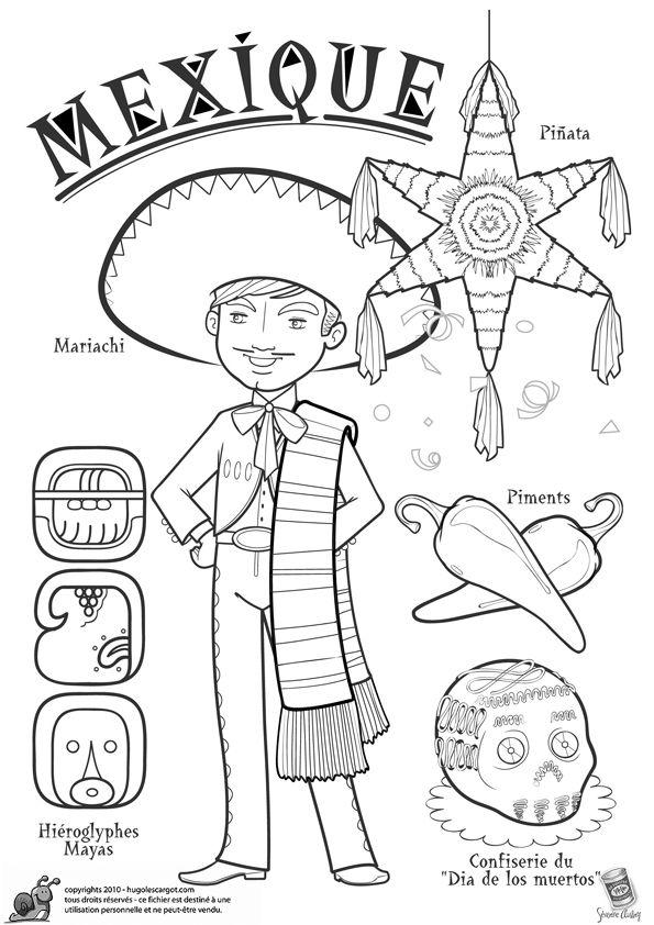 Coloriage / dessin enfant Mexique