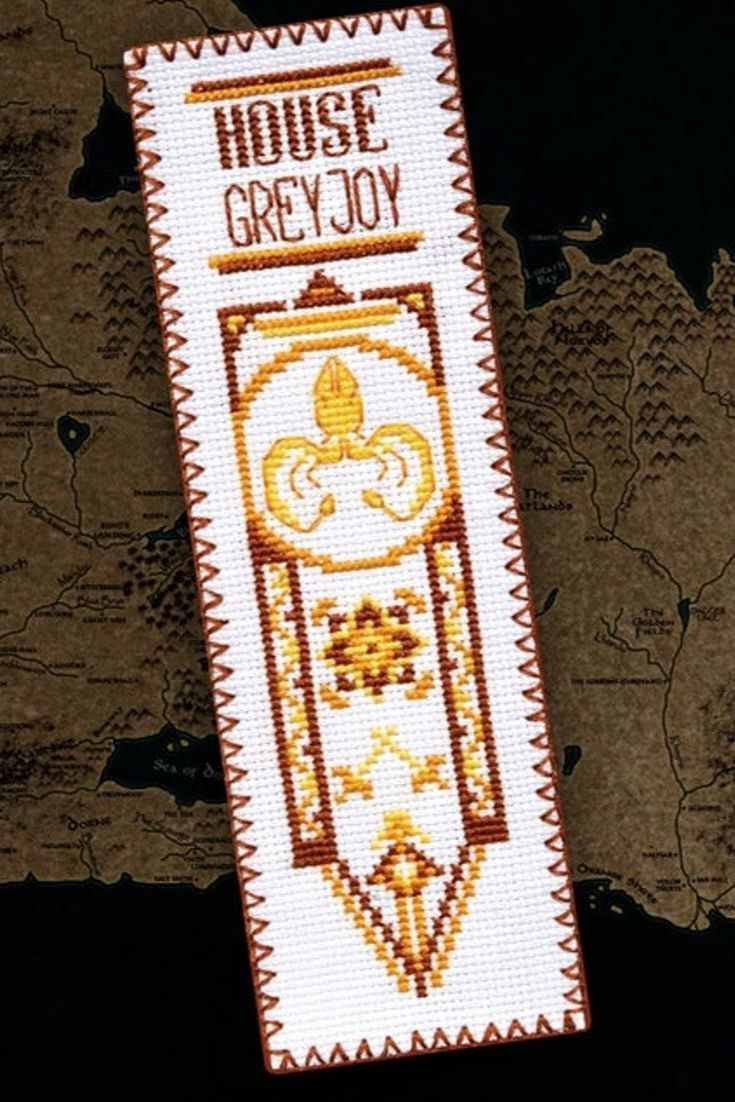 House Of Greyjoy Cross Stitch Design Game Of Thrones Bookmark