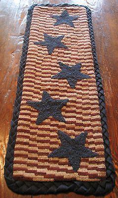 Primitive Hooking Patterns 157031: Primitive Hooked Rug Pattern On Linen Floating Stars -> BUY IT NOW ONLY: $50 on eBay!