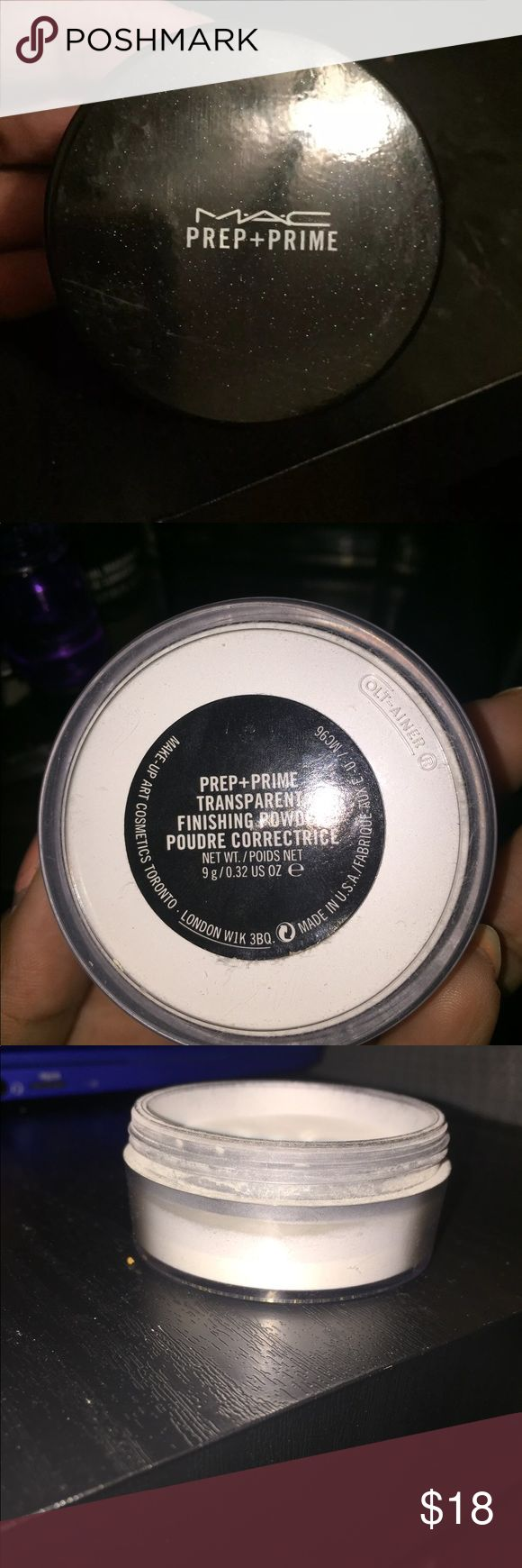MAC Prime and Prep Powder Used only twice. Way too light for my skin tone. Translucent finishing Powder. Basically FULL--retIls for $27 Will throw in a Mac sample also :) MAC Cosmetics Makeup Face Powder