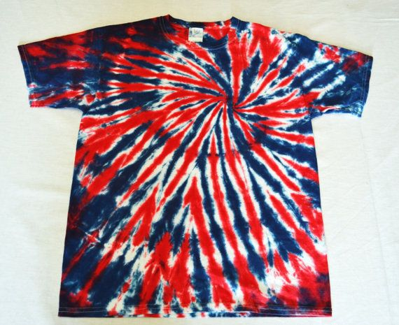 Tie Dye T-Shirt, Patriotic T-Shirt, Red, White and Blue, Tie Dye Shirt, Hippie Clothes on Etsy, $20.00