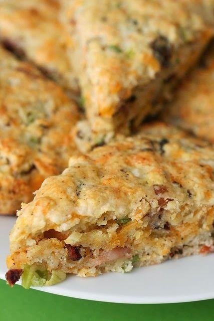 Bacon and cheddar scones breakfast pinterest quiche for Canape quiche recipe