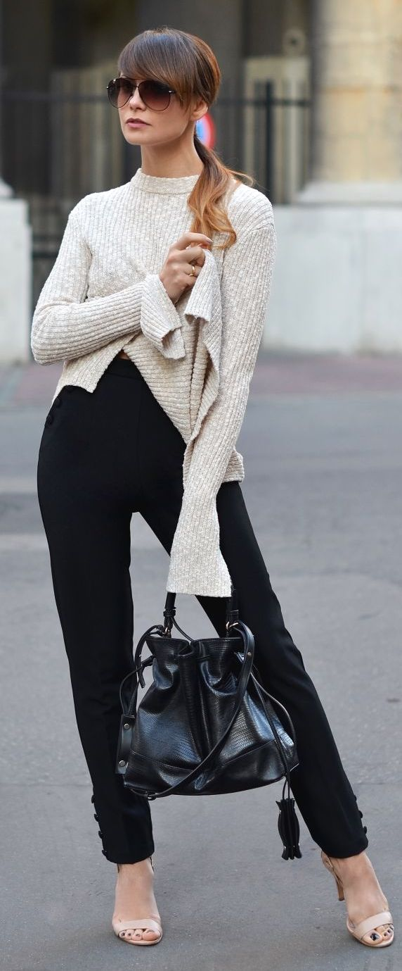 Cammy Beige On Black Easy And Clean Fall Inspo
