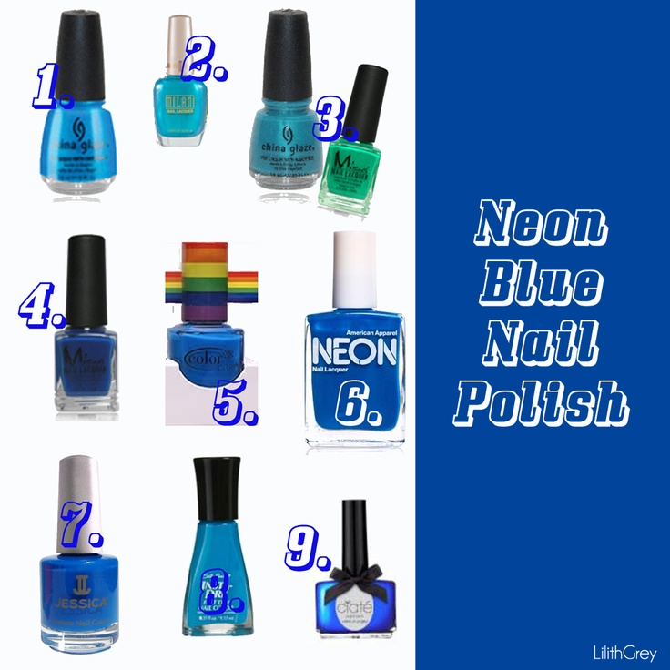 Neon Blue Nail Polish: 112 Best Bold Electric BLUE Images On Pinterest