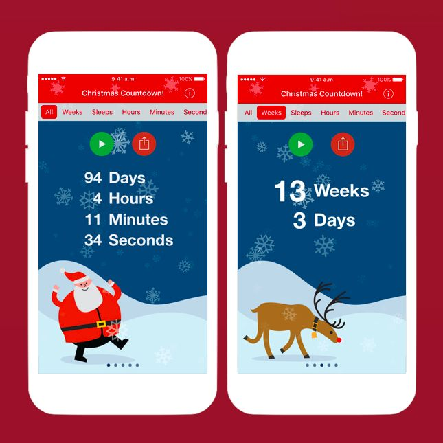 Christmas lovers, you need to download this Christmas countdown app, STAT.