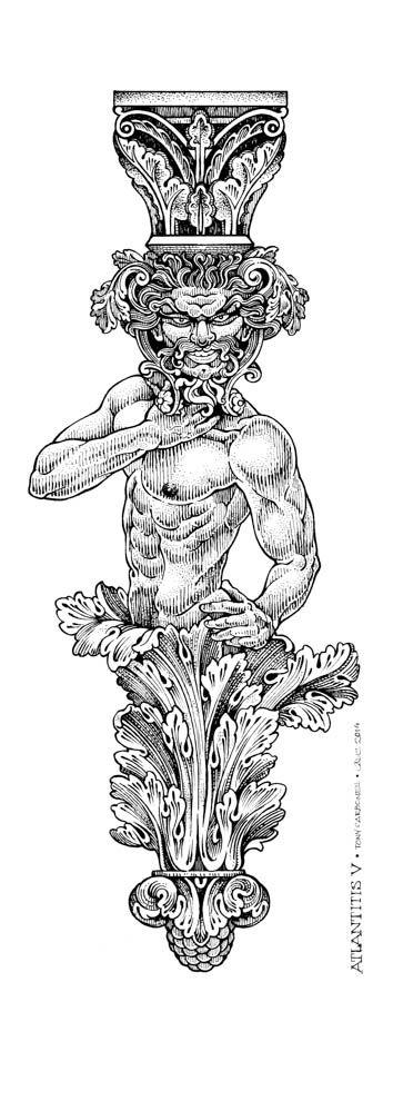 Atlantitis V, #Dibujos e #Ilustraciones #Illustrations de Tony Carbonell #Cadiz