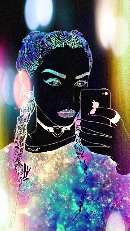 Galaxy Hipster Girl Wallpaper (con imágenes) Fondo de