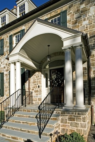 stairs: Idea, Portico, Penza Bailey, Bailey Architects, Traditional Porch, Front Entrance, Front Porches, House Exterior