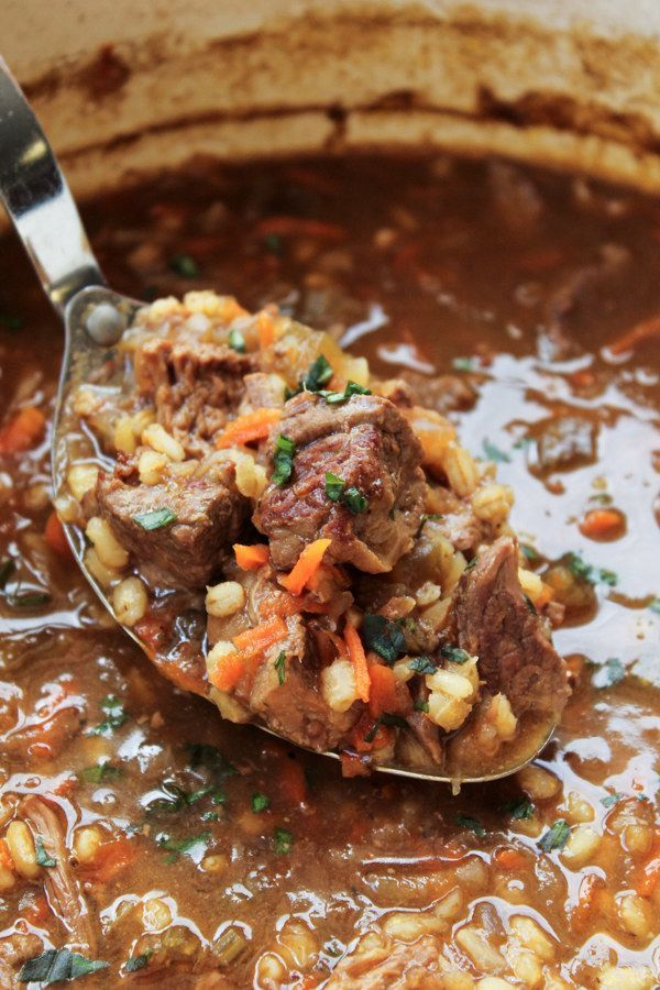 Beef Barley Soup | 23 Delicious Soups You Can Make In A Slow Cooker