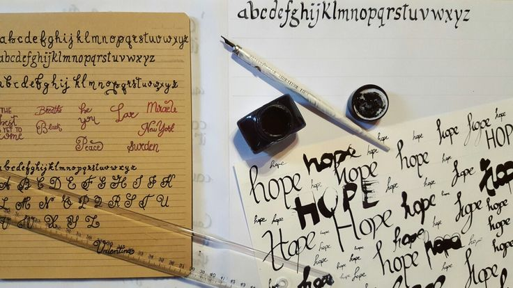 Hand writing, calligraphy