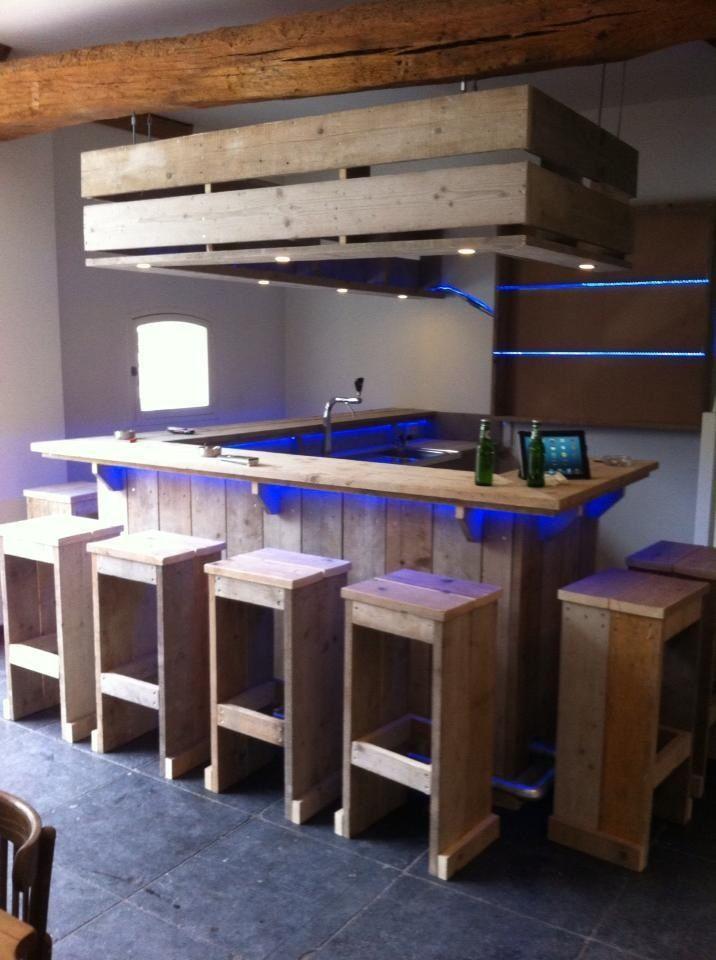 Steigerhouten Keuken Bar : Pallet Furniture Bar