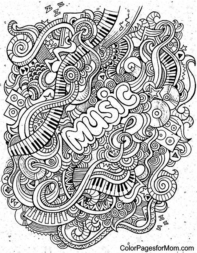 Doodles 62 coloring page coloring pages pinterest for Coloring pages of music
