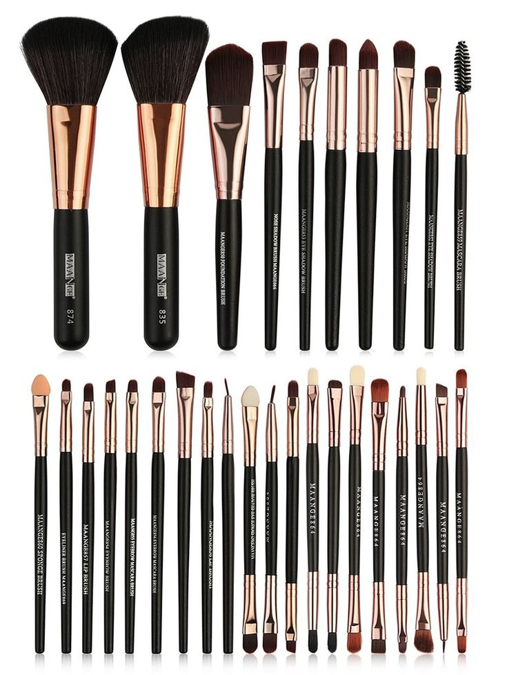 Professional 30Pcs Ultra Soft Fiber Hair Cosmetic Brush