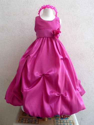 KC FUCHSIA/HOT PINK BEGONIA WEDDING PAGEANT PARTY FLOWER GIRL DRESS 2 4 6 8 10