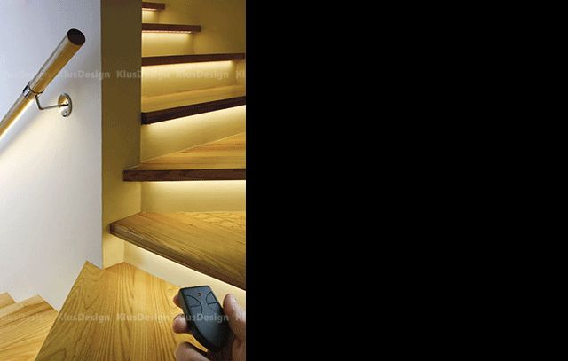 Klus LED Stair Lighting Systems, Stair Lights | http://www.klusdesign.com/examples/show/stairs-and-stair-railings#