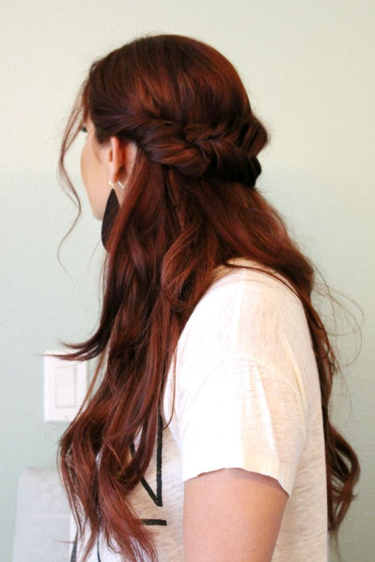 easy half up fishtail hairstyle