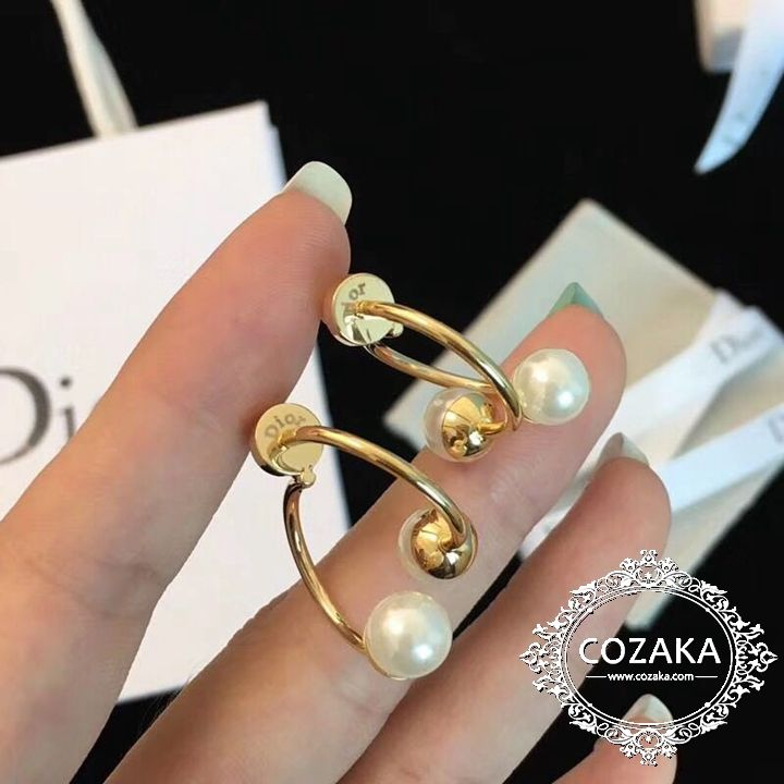 buy popular 17709 643cf ディオール ピアス パール付き Dior イヤリング 可愛い ゴールド ...