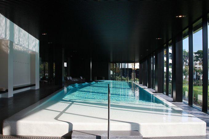 Inside fresh-water pool at Hotel Lone Croatia