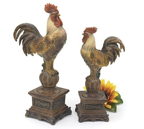 country rooster kitchen decor. Set of 2 Tall French Country Rooster Figurines Statues Decorative Roosters  by Sunrise Calling 27 best Decor images on Pinterest