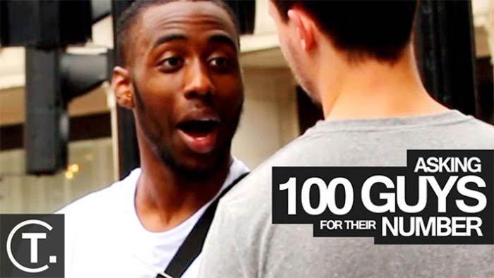 Vídeo: Homem pede o telefone para 100 caras na rua, veja o que aconteceu - Gay Casado  #gay #experiencia #sociedade #lgbt