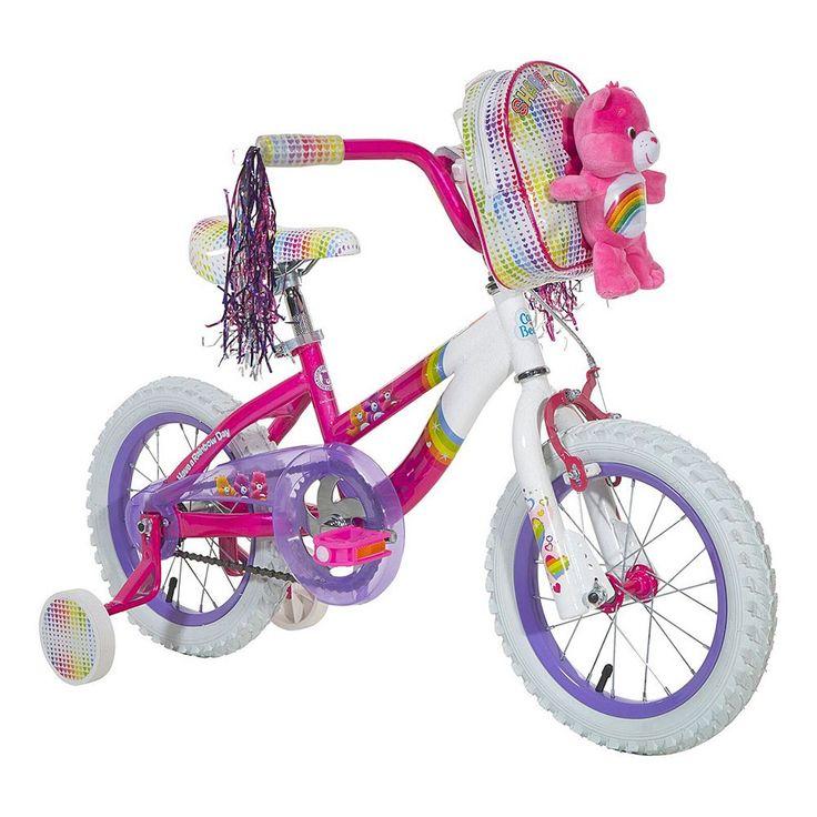 Youth Care Bears Cheer Bear 14-Inch Wheel Bike with Training Wheels, Multicolor