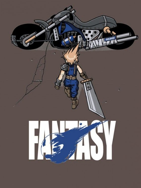 Parody poster Akira - Final Fantasy Retro Gaming : http://www.helpmedias.com/retrogaming.php