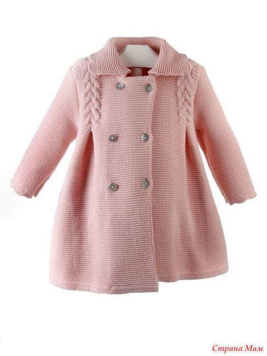 Хочу связать дочке такое пальто на весну, на рост 98см. Помогите с построением выкройки.