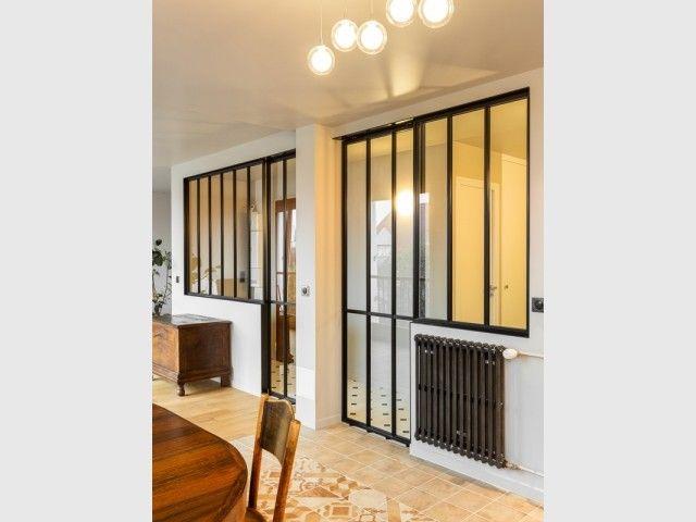 Une Verriere D Exception Comme Trait D Union Entre 2 Appartements Verriere Architecte Interieur Mur Porteur