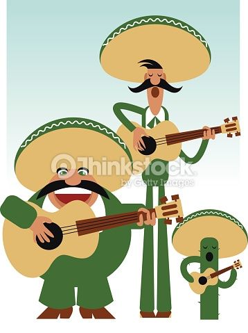 Clipart vectoriel : Three Amigos Mariachi Band