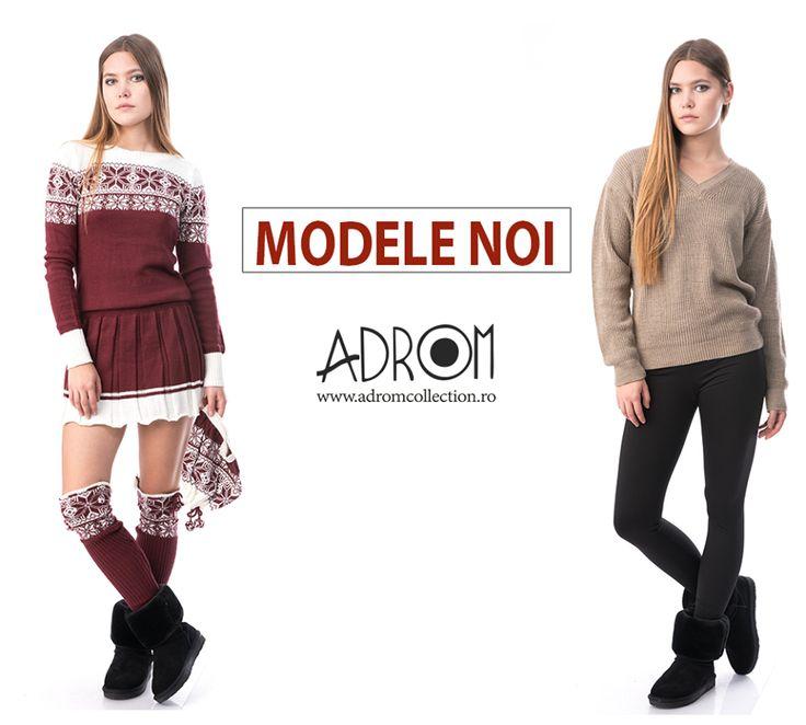 Comandă și tu noile modele călduroase și jucăușe de pe Adrom Collection. Printre acestea se află modele noi de rochii, pantaloni, pulovere și un set compus de rochie+fes+jambiere.  Link produse noi: http://www.adromcollection.ro/produse-noi