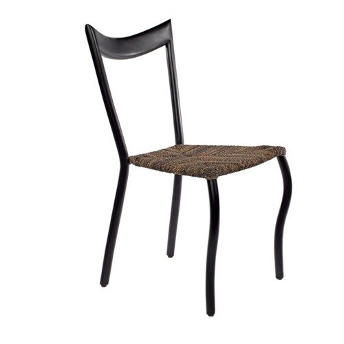 Dining chair black /rope brown - pols potten