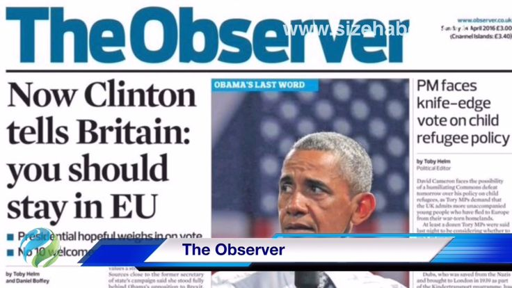 English, newspapers front pages, 24 April 2016, Sunday