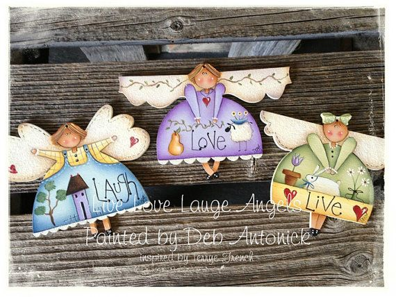 EPattern  Live Love Laugh Angels by PaintingwithDeb on Etsy, $5.00