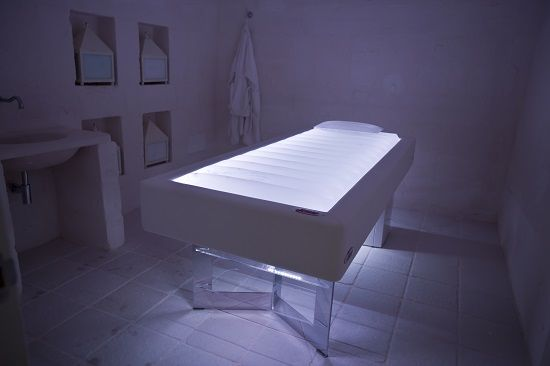 Senso water massage bed in a Luxury spa in Puglia