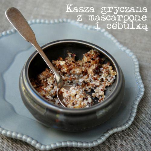 kasza gryczana z mascarpone i cebulką