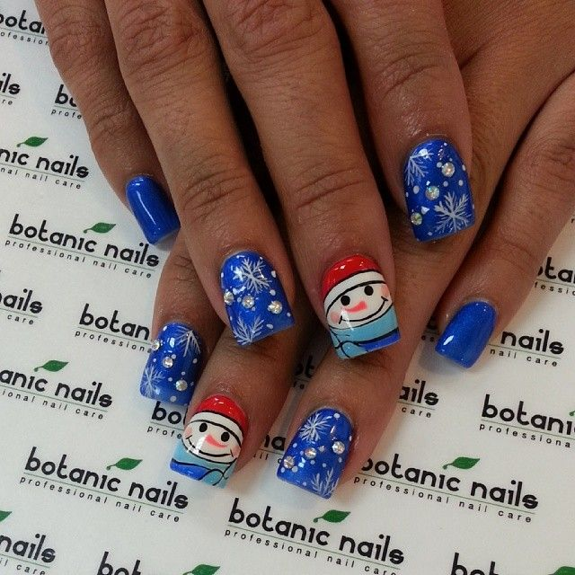 christmas nail art by botanicnails