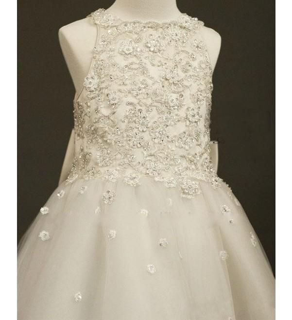 Wholesale Girls Prom Dress - Buy 2015 New Arrival Cute Lovely A Line Organza Jordans For Kids Flower Girl Dresses With Sequined Beads Scoop Ruffles Champagne, $81.88 | DHgate.com