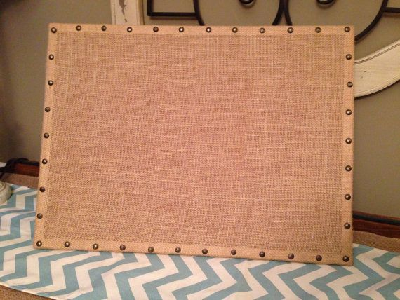 Burlap Cork Board with decorative border- 17x23 on Etsy, $32.00 by Wilshire Collections
