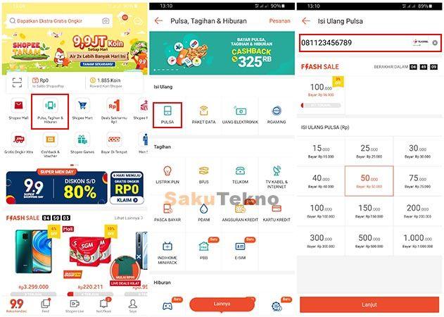 Cara Beli Pulsa Di Shopee Bisa Bayar Lewat Indomaret Dan Alfamart Kartu Kredit Aplikasi Teknologi Baru