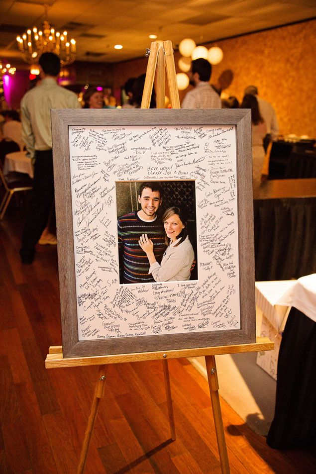 I like this idea instead of the traditional guest book!