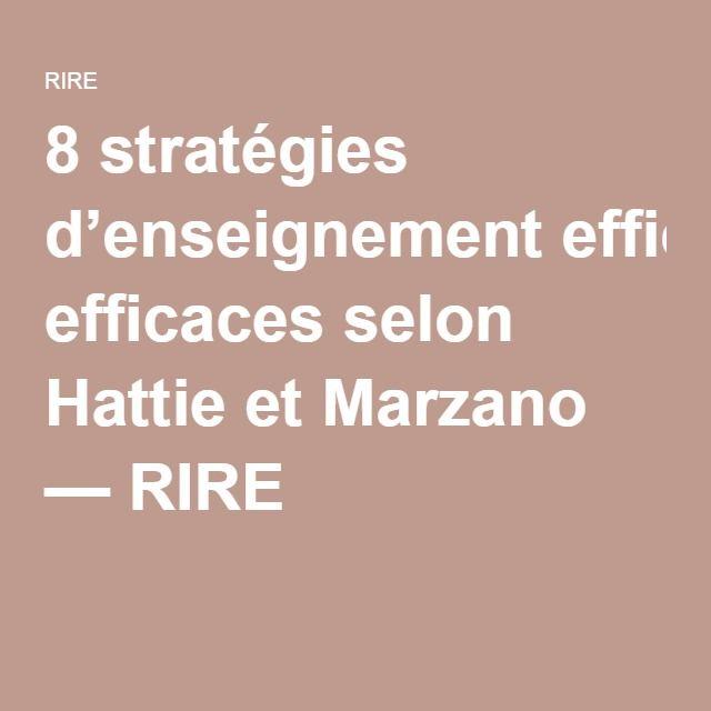 marzano effective instructional strategies