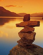 inuksuk points to a place of significance such as fresh water, shelter, community, safety, food, a place of beauty