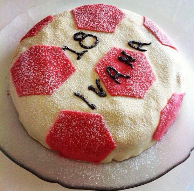Fotball B-day cake
